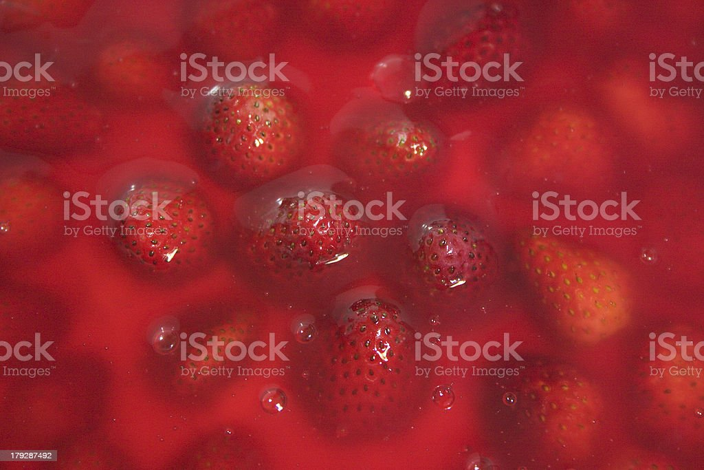 Strawberry pie texture royalty-free stock photo