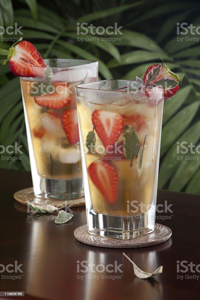 Strawberry Sage Iced Tea royalty-free stock photo