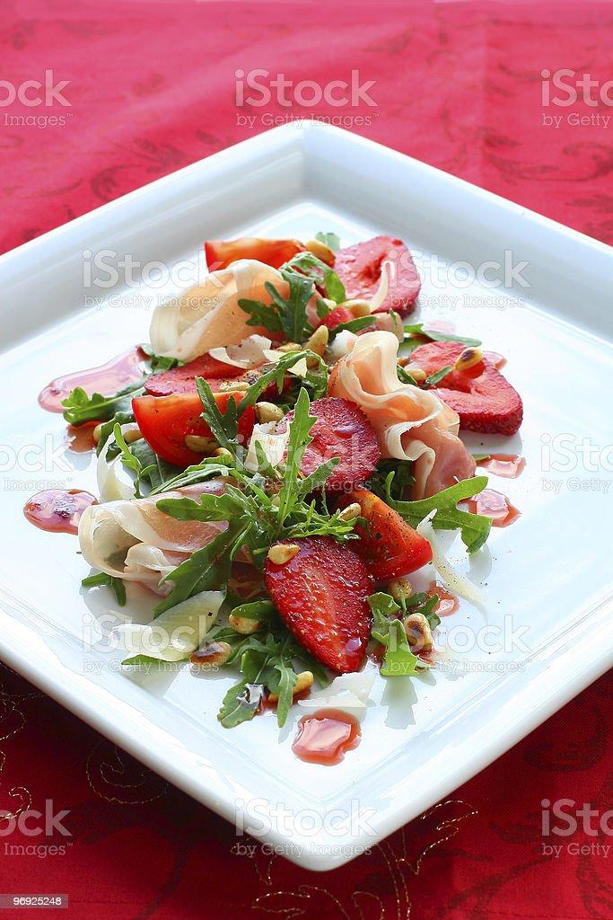 strawberry salad royalty-free stock photo