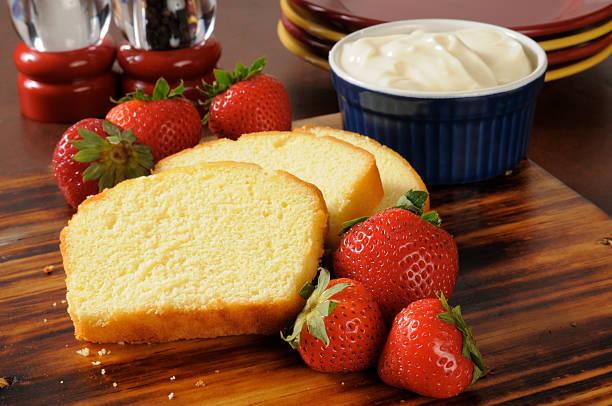 shortcake de morango de ingredientes - foto de acervo