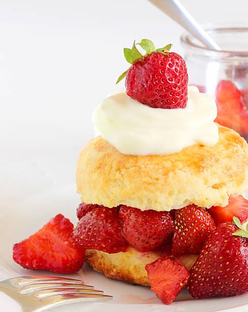 Strawberry shortcake stock photo