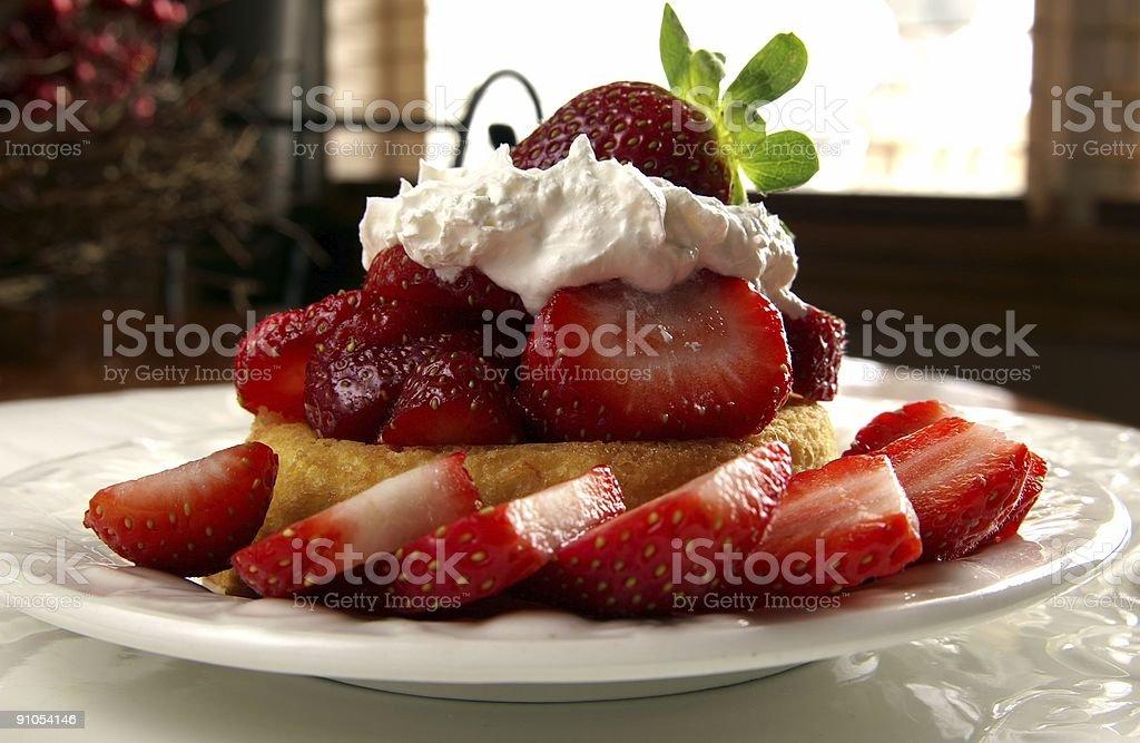 strawberry shortcake royalty-free stock photo