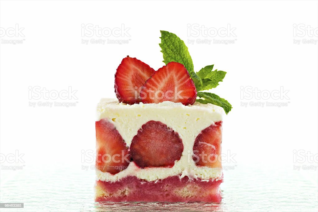 Strawberry shortcake royalty-free stock photo