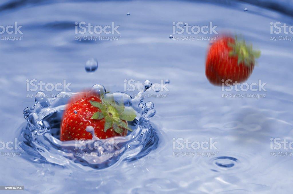 Strawberry splash royalty-free stock photo
