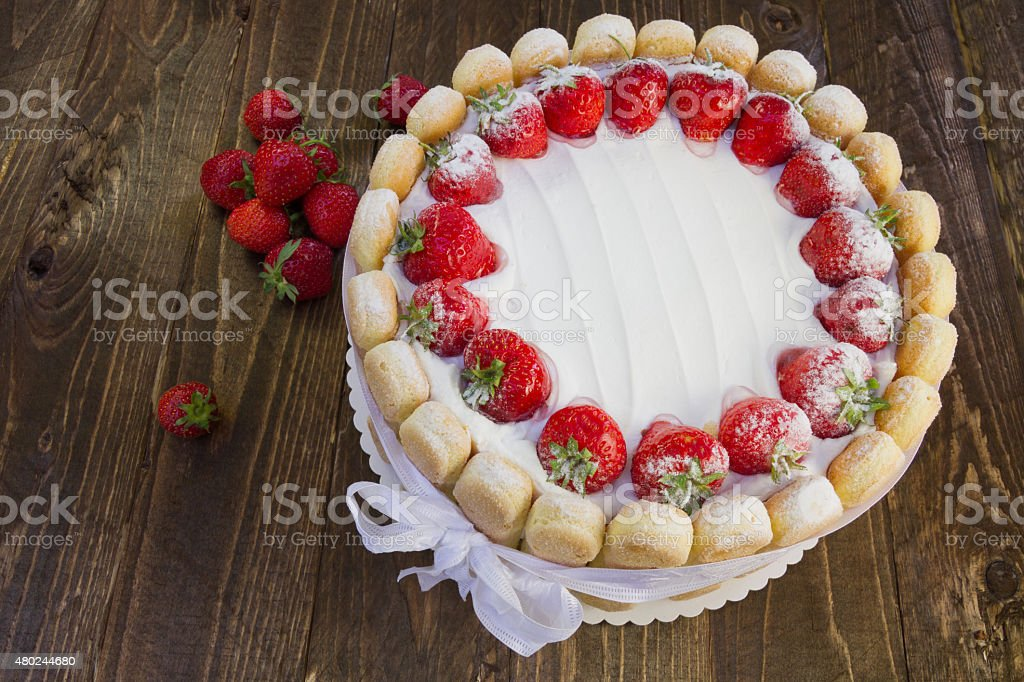 Gâteau à la fraise été de Charlotte - Photo