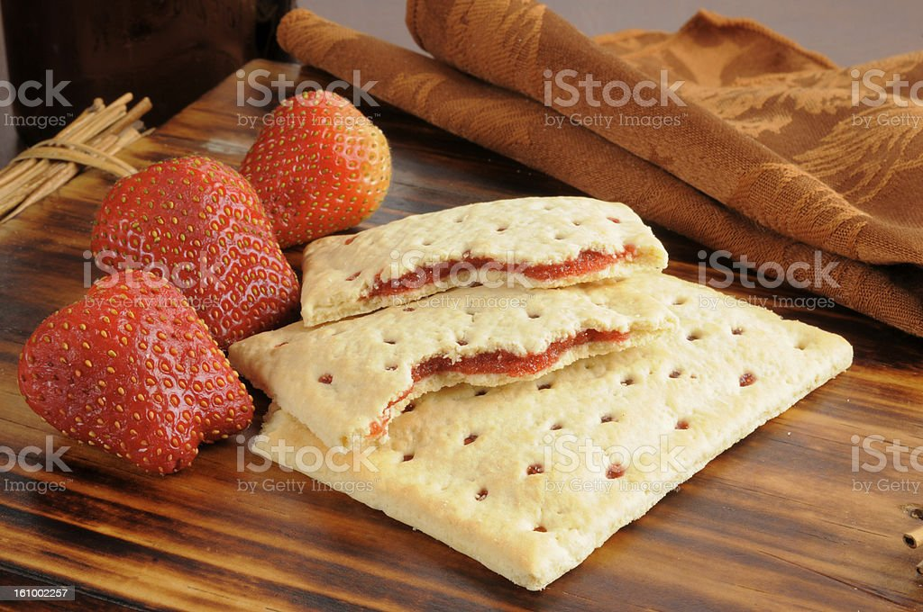Strawberry toaster tarts stock photo