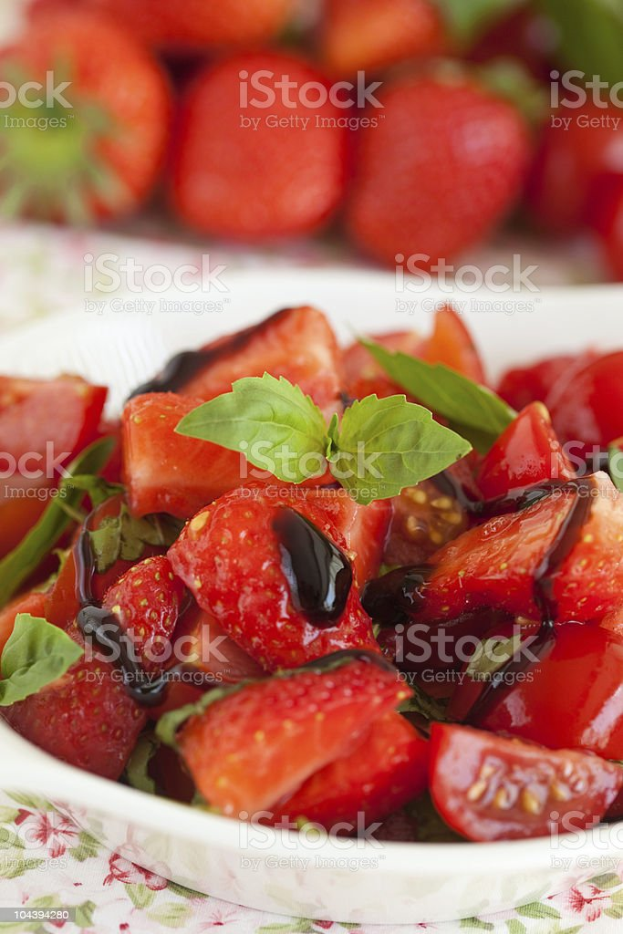 Strawberry tomato salad royalty-free stock photo
