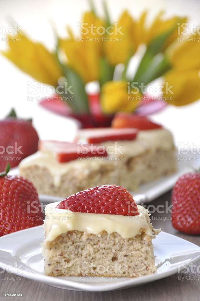 Strawberry Vanilla Cake royalty-free stock photo