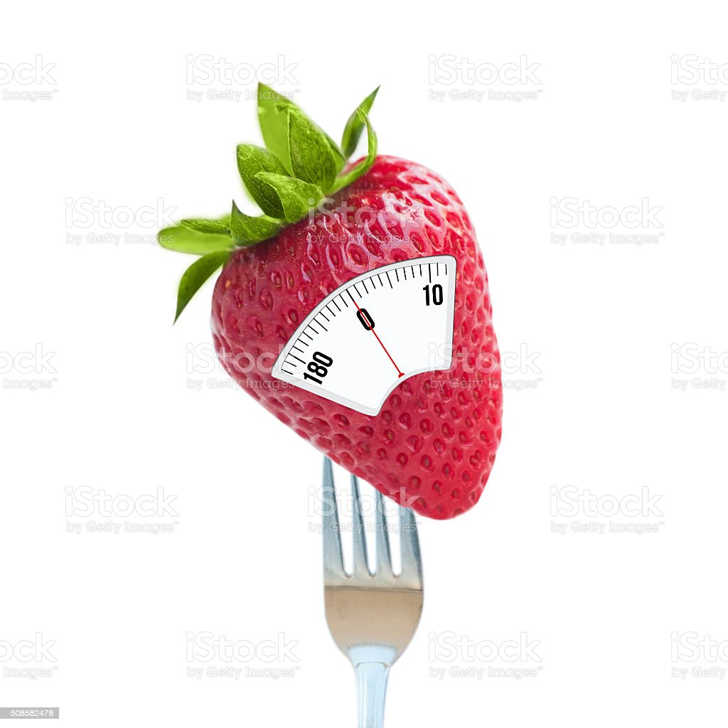 Strawberry with scales stock photo