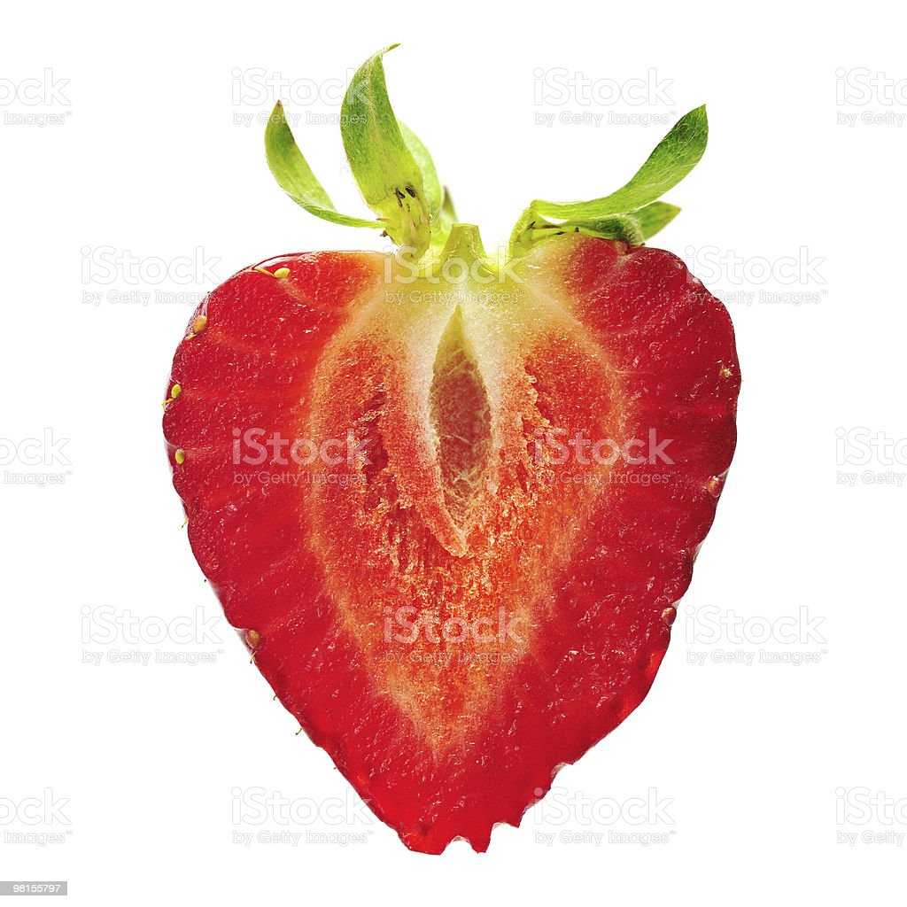 Strawberry  X-section Slice royalty-free stock photo