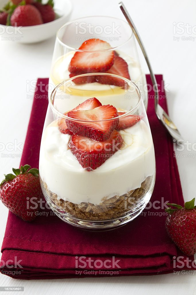 Strawberry Yoghurt stock photo
