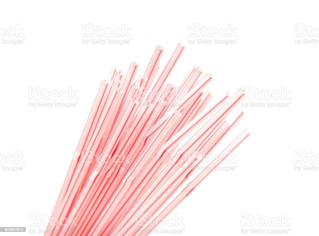 Straws for drinking isolated stock photo