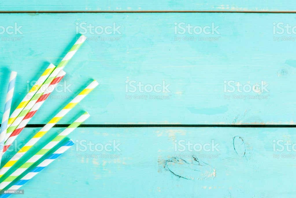 Straws for summer drinks stock photo