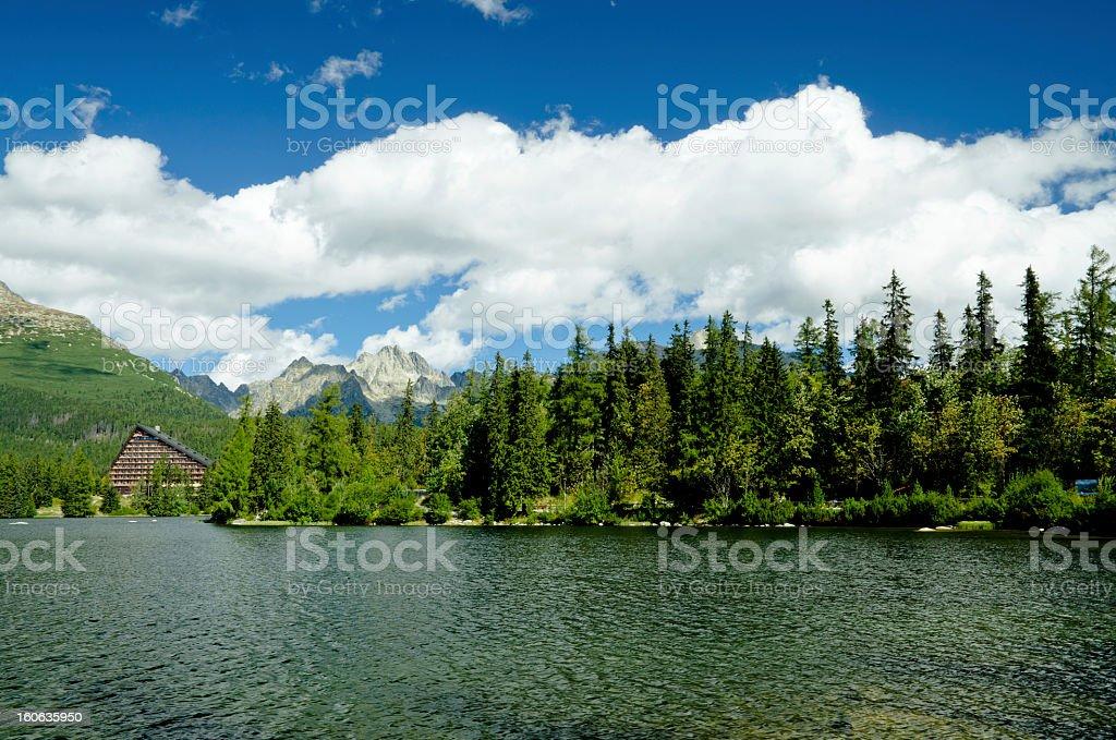Strbske Pleso - Mountain lake royalty-free stock photo