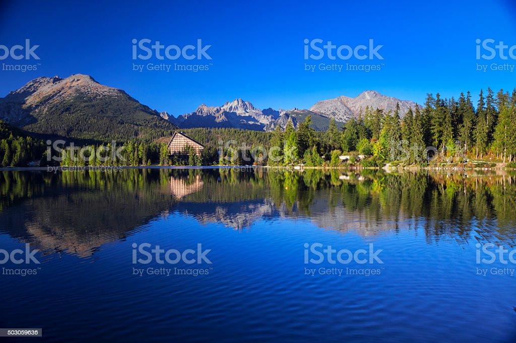 Strbske Pleso, Tatra, Slovakia stock photo
