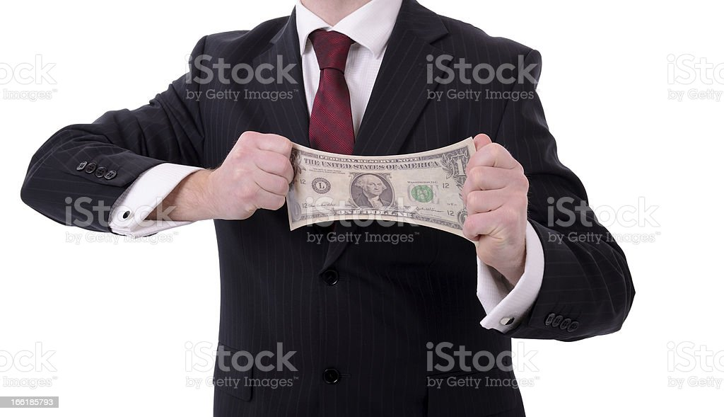 streaching dollar stock photo