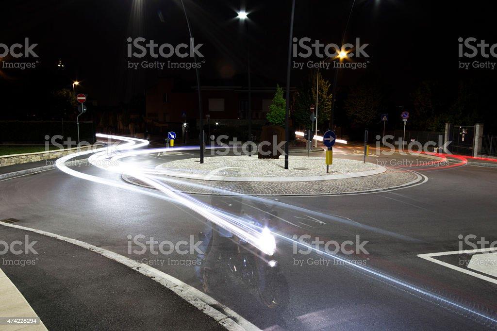 streaks of light stock photo