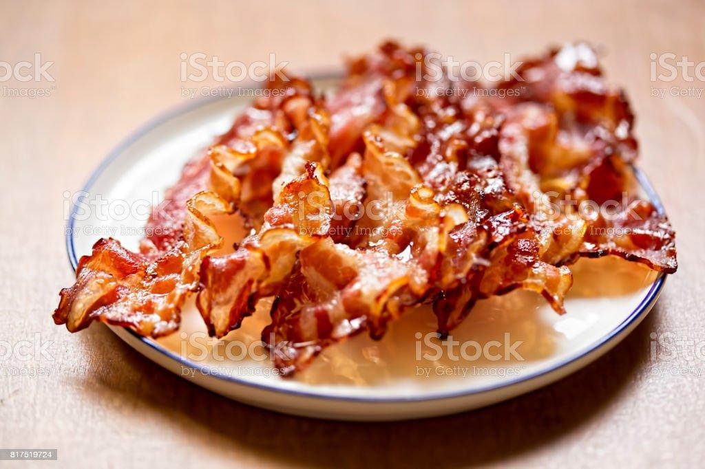 Streaky bacon rasher stock photo
