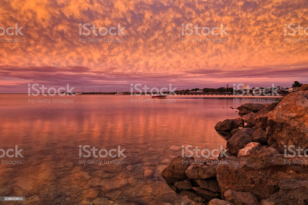 SA Streaky Bay Pink stock photo