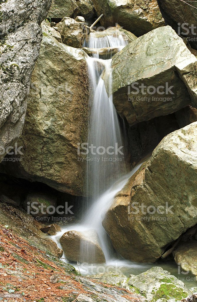 Stream among stones royalty-free stock photo