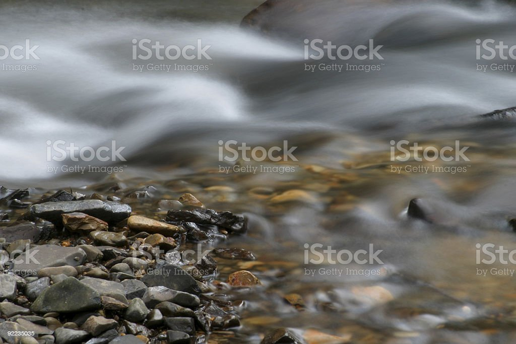Stream and Rocks royalty-free stock photo