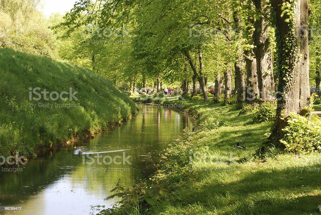 Flusso dal Castello di Arundel. Sussex ad ovest. Inghilterra foto stock royalty-free