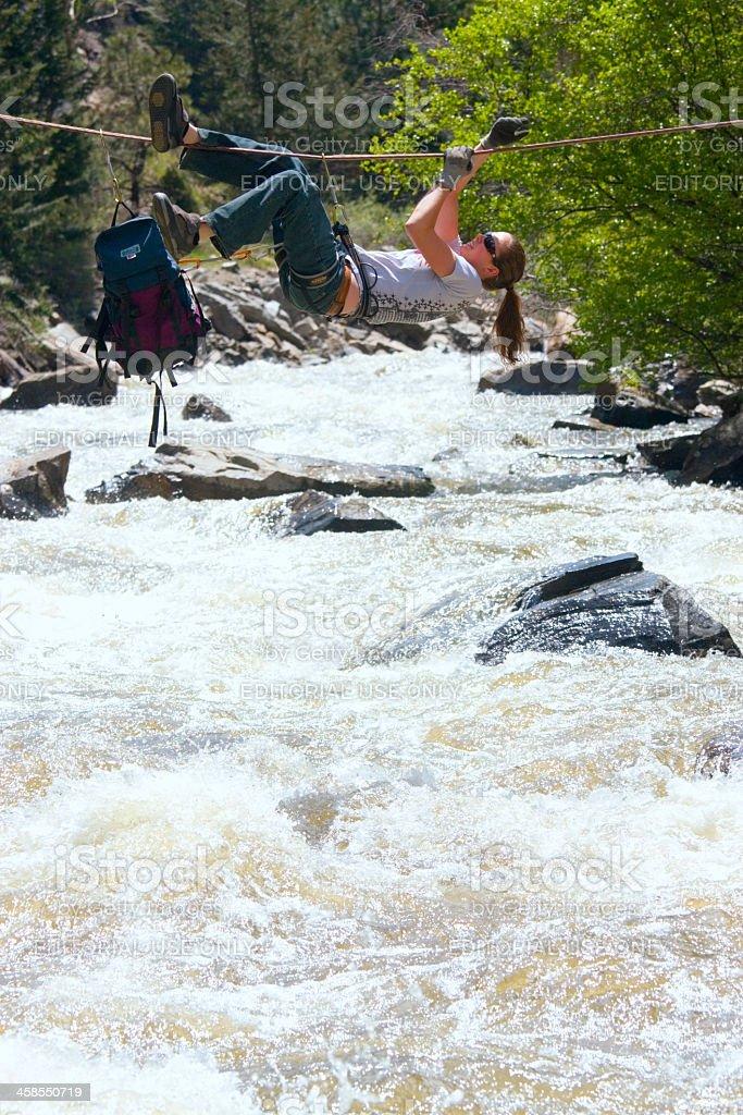 Stream Crossing royalty-free stock photo