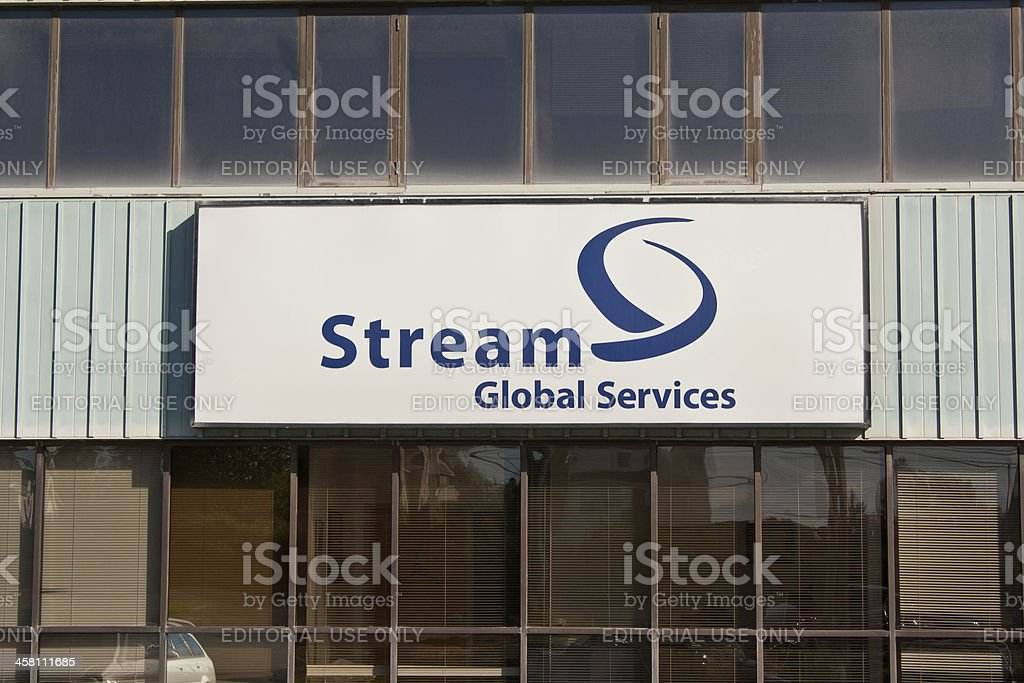 Stream Global Services Sign royalty-free stock photo