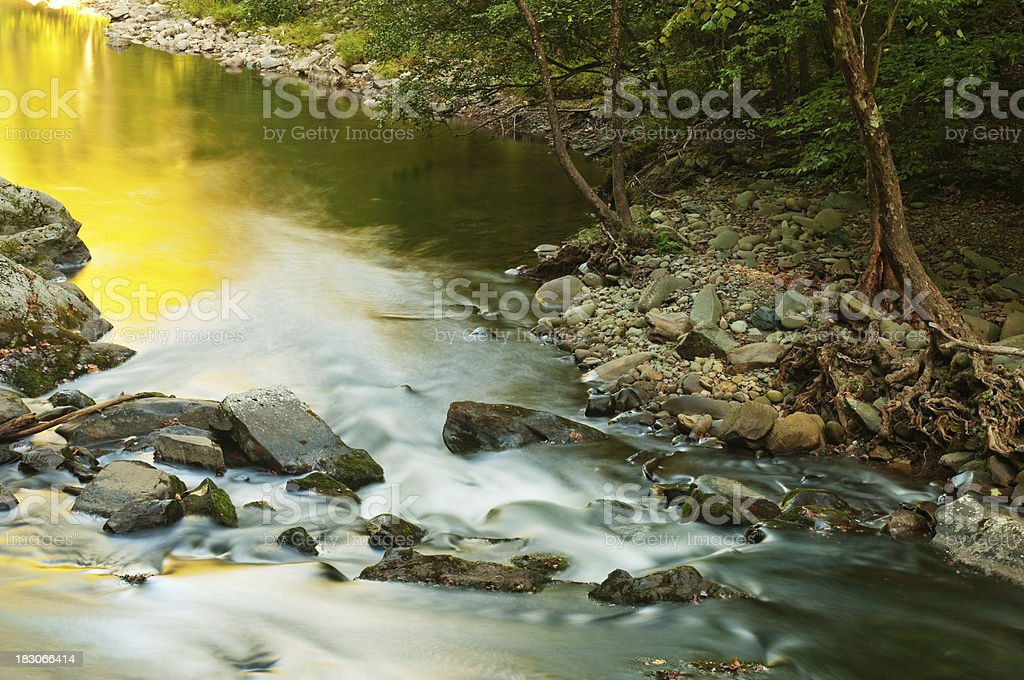 Stream in Autumn royalty-free stock photo