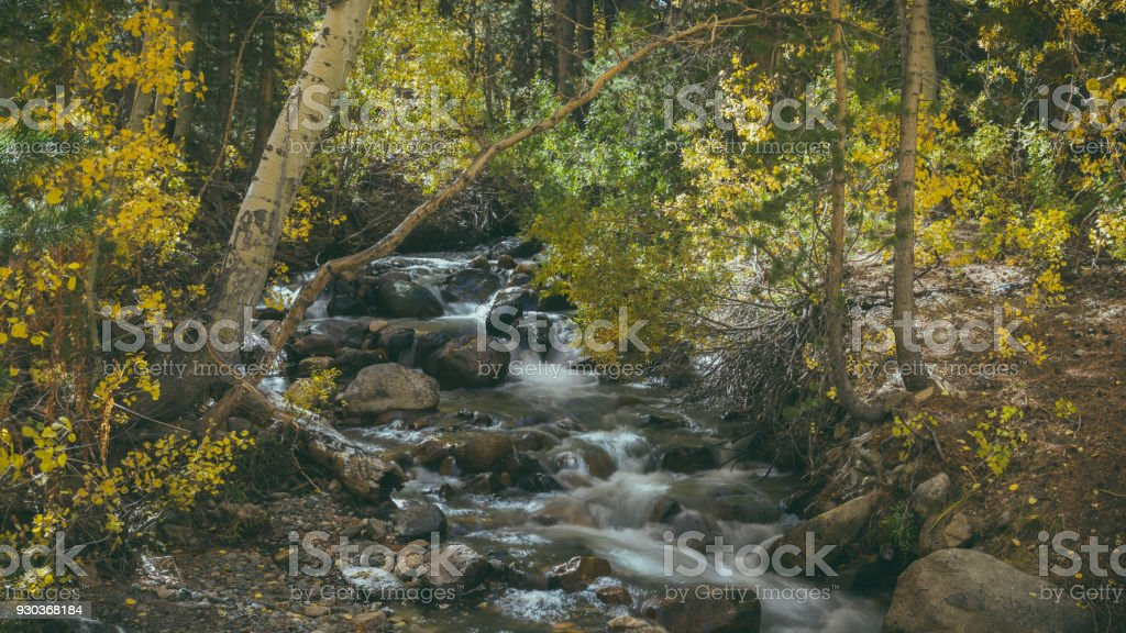 Stream in Bishop California stock photo