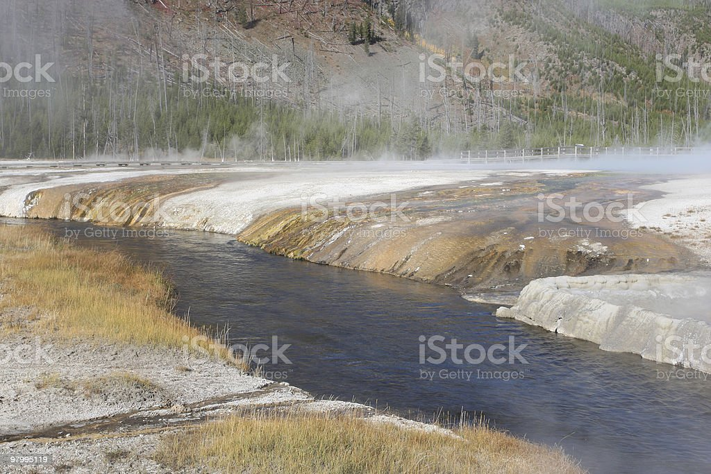 Stream in Geyser Area royalty-free stock photo