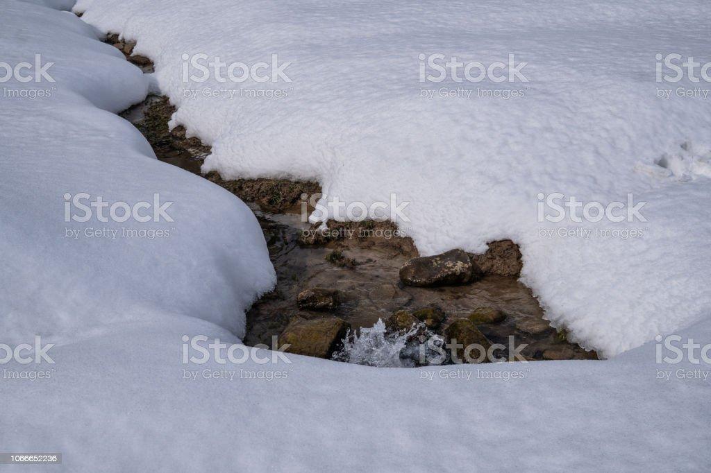 Stream in Gulmarg stock photo