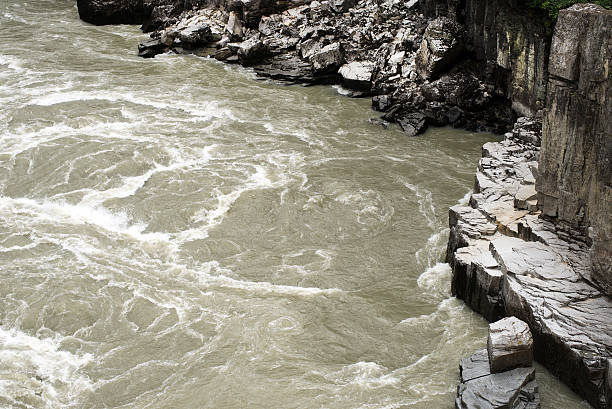 stream in Hells Gate in the southern Fraser Canyon stock photo