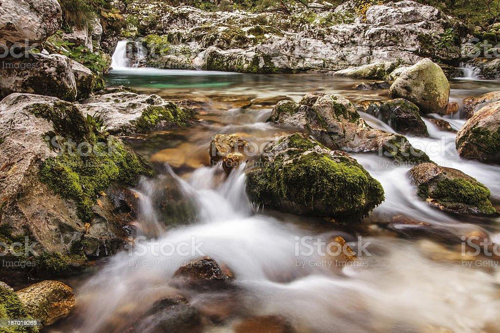 Stream in Lepena, Slovenia, Europe. royalty-free stock photo