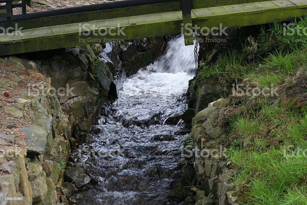 Stream in motion royalty-free stock photo
