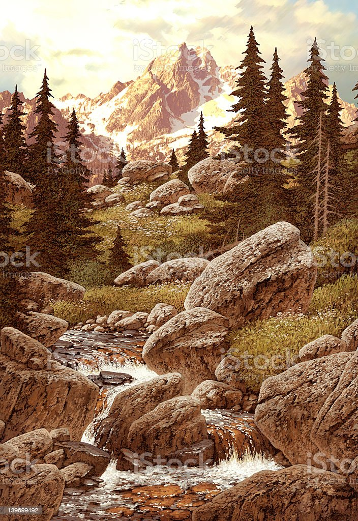 Stream in Mountains royalty-free stock photo