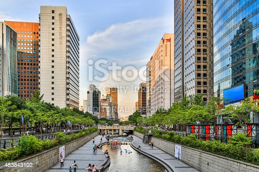 istock Stream In Seoul City 483843102