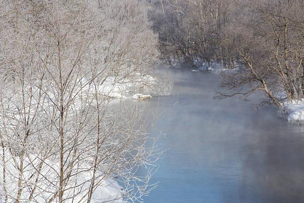 Stream in Wintertime stock photo