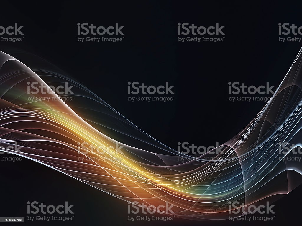 Stream of Fractal Waves stock photo