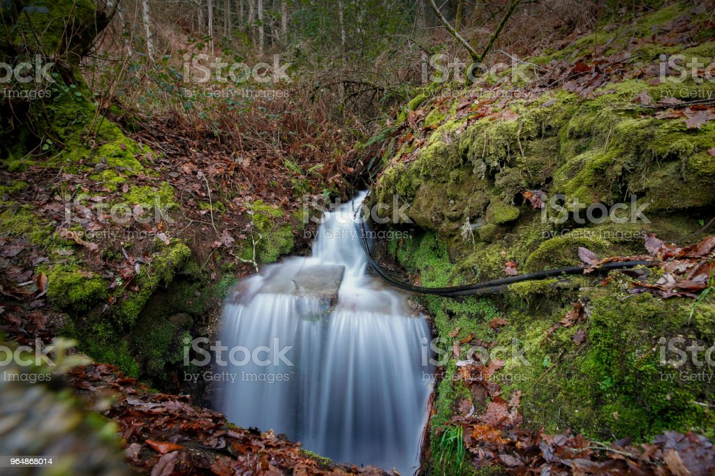 A stream of water on a hill north of Portugal. royalty-free stock photo