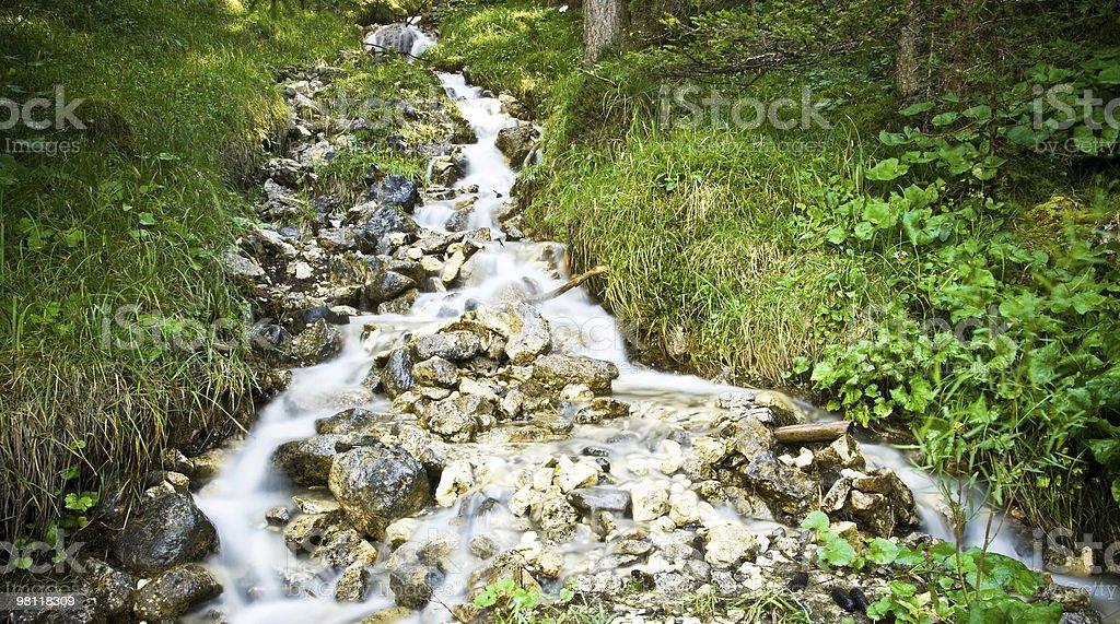 Flusso di acqua foto stock royalty-free