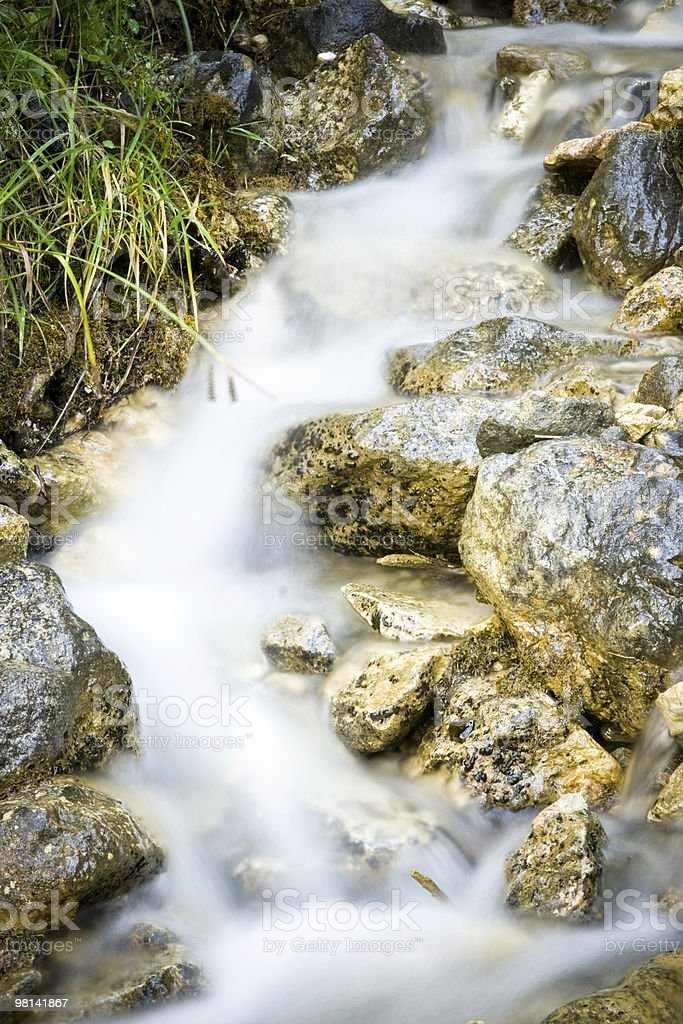 Flusso di acqua foto stock royalty-free