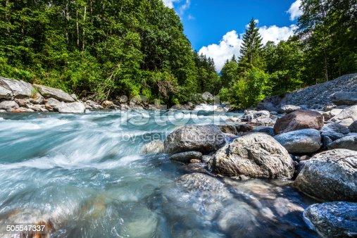 stream off the mountains in Switzerland
