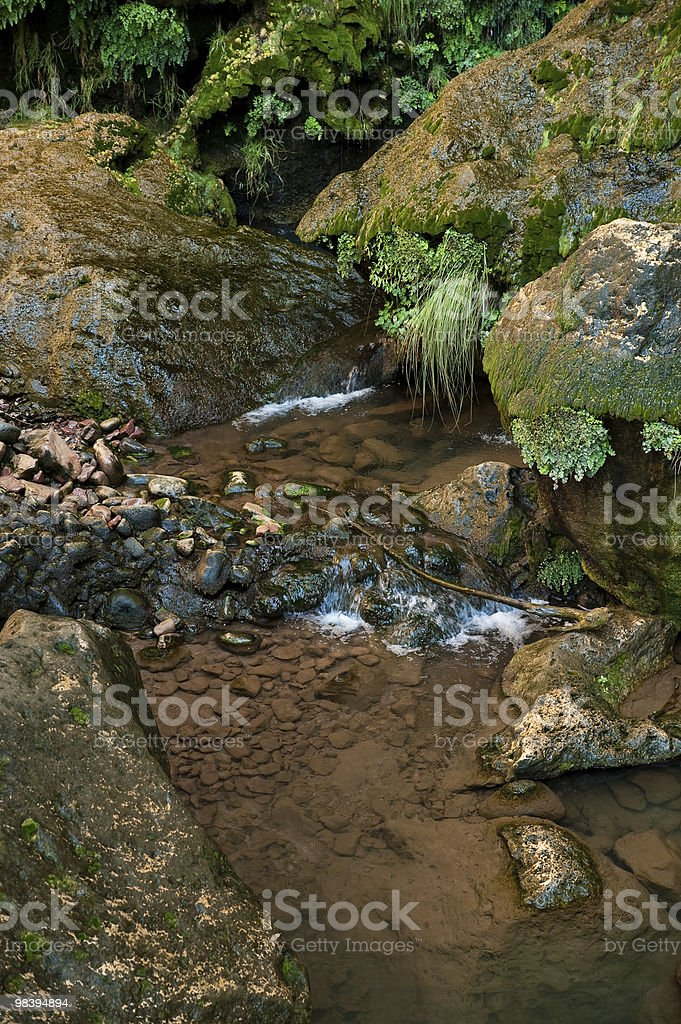 Stream over rocks royalty-free stock photo