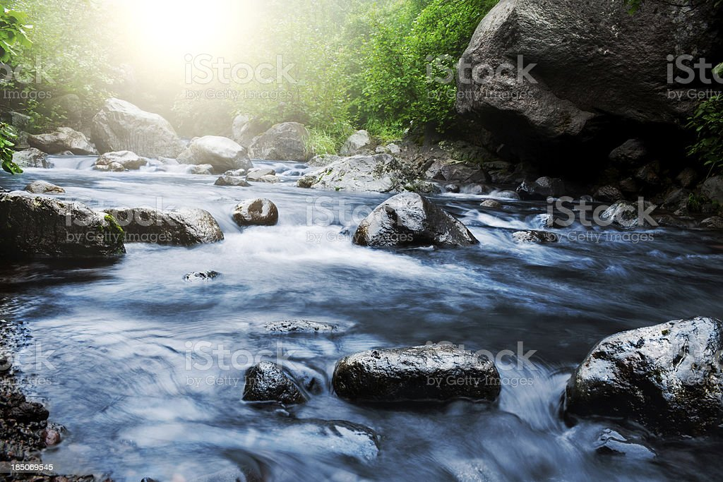 Stream stock photo