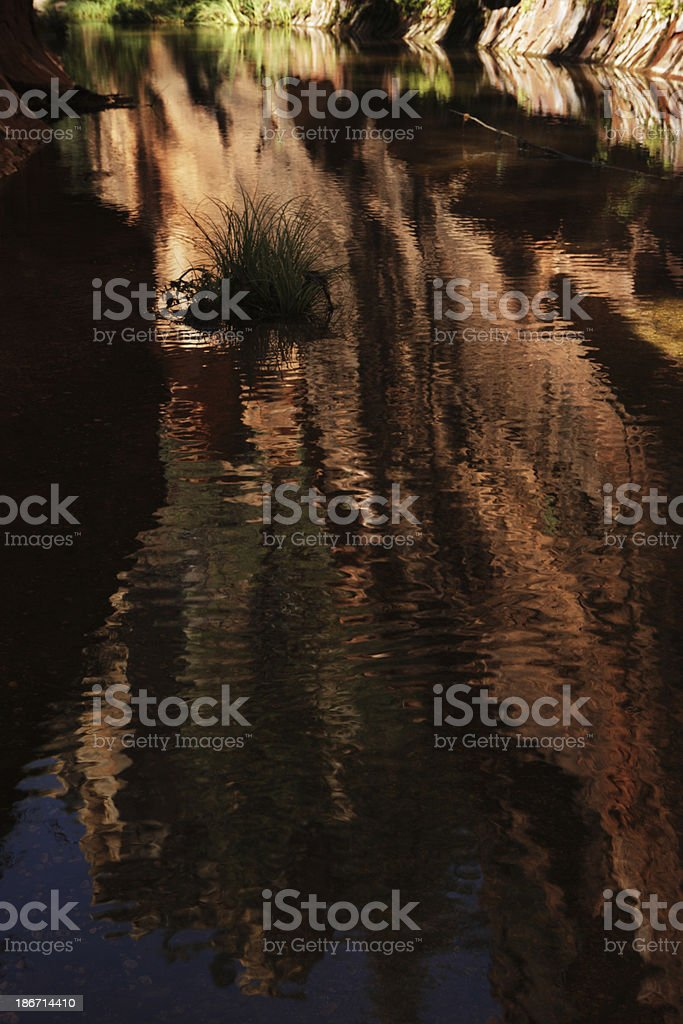Stream Ripples Red Rock Canyon Watercourse royalty-free stock photo