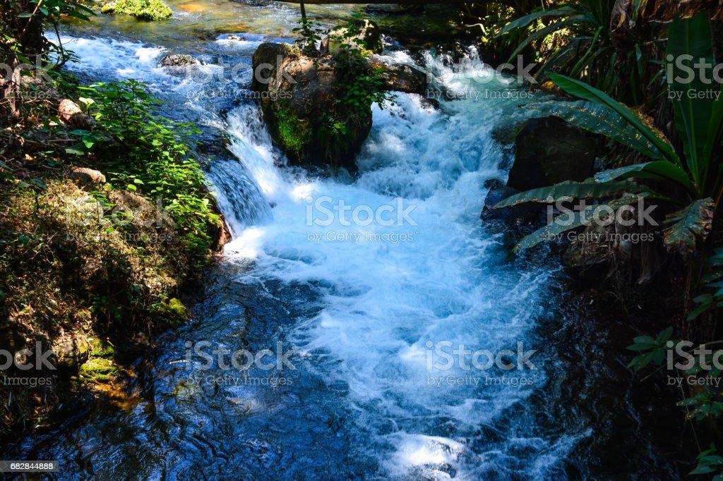 Stream rounding the stone. Lizenzfreies stock-foto