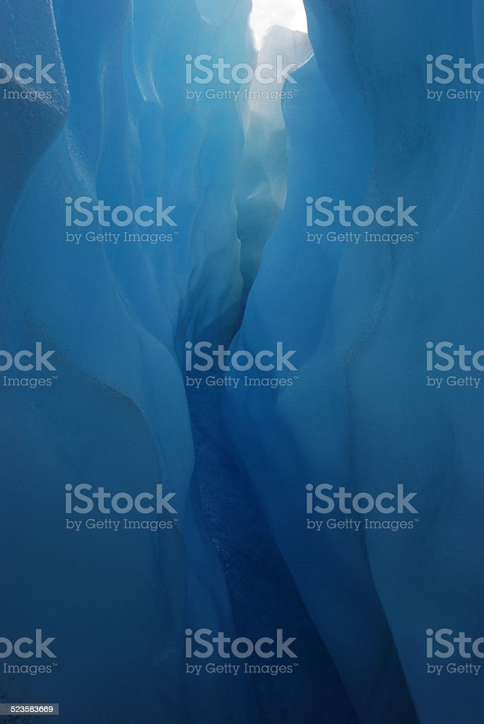 Stream through a glacier stock photo