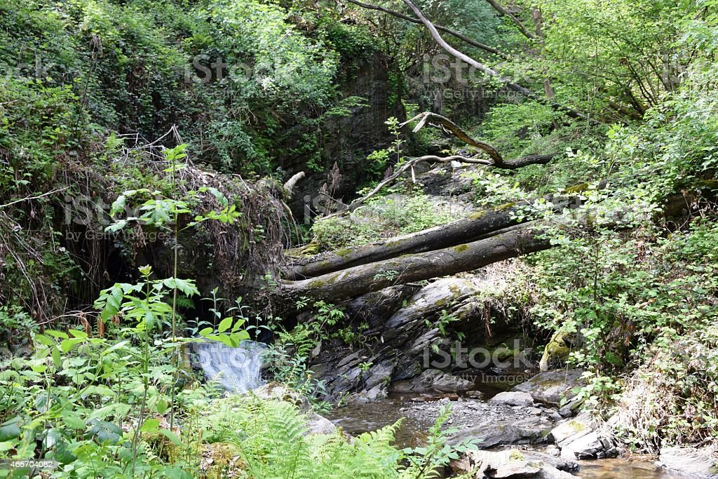 Stream, waterfall, on Lago Maggiore, Spring stock photo