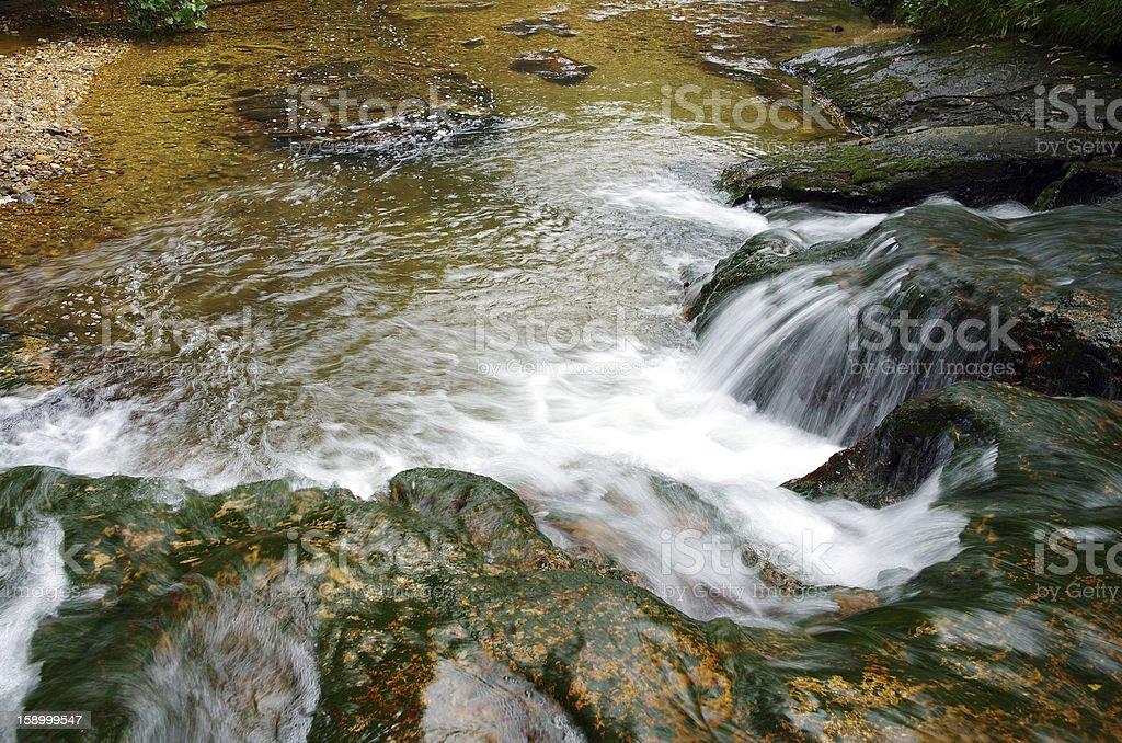 Stream waterfall rocks royalty-free stock photo